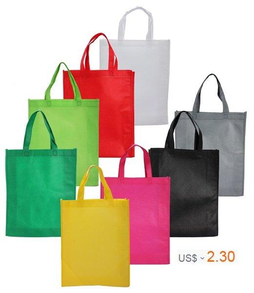 Shopping Cloth Fabric Bag Pure Color Tote Bag Shoulder Bag